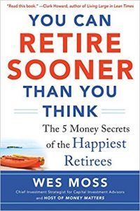 you can retire sooner than you think book cover by wes moss