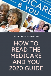 medicare and you 2020 guidebook and how to read it