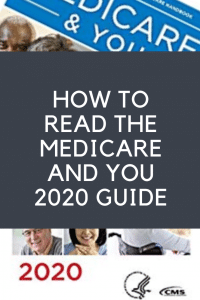 how to read Medicare and You 2020 guidebook