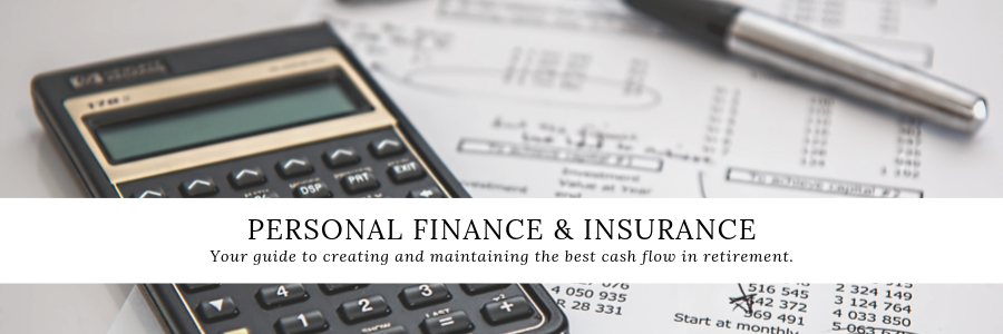 personal finance and insurance banner