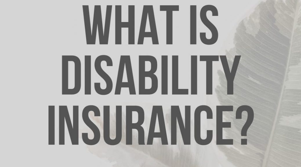 What is Disability Insurance by Carly Cummings, licensed agent and creator of Medicare Life Health Co.
