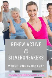 renew active vs silver sneakers pin