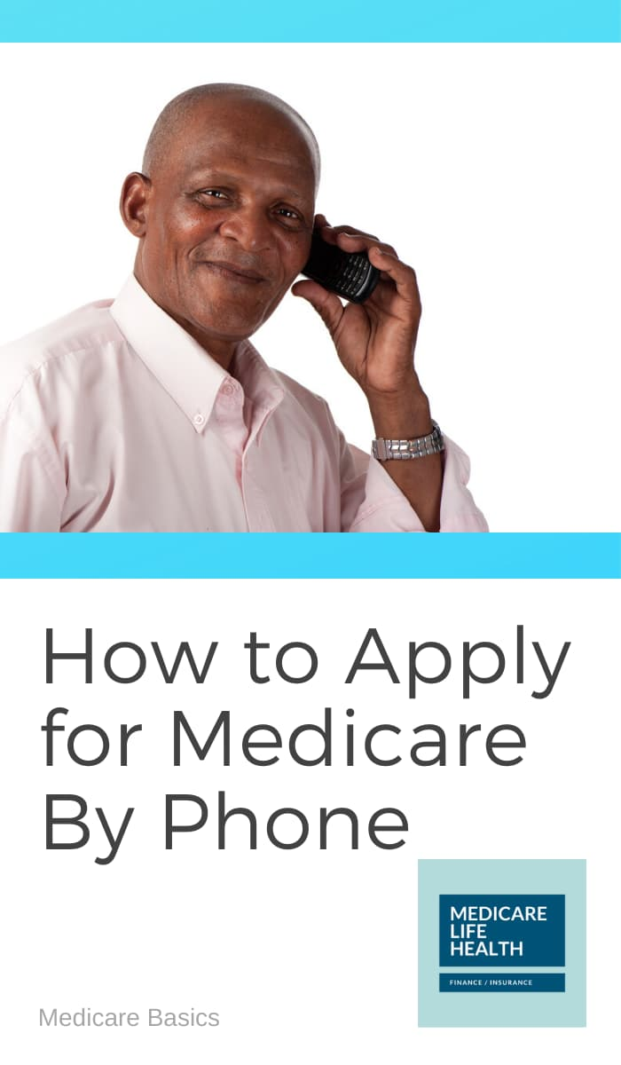 how to apply for medicare by phone - man on phone with SSA office