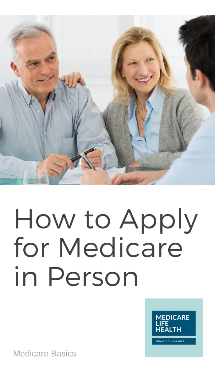 how to apply for medicare in person - couple meeting with Social Security Administration