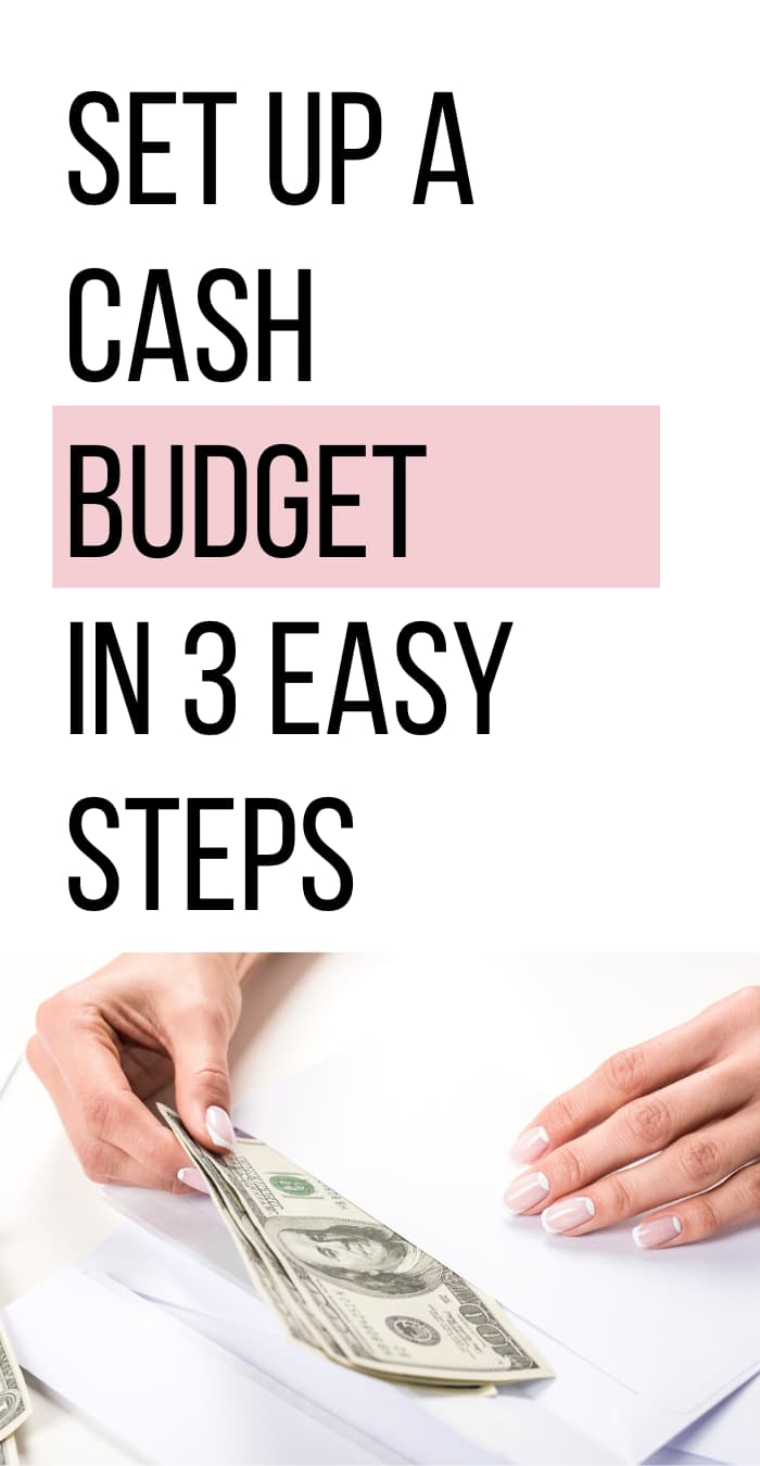 set up a cash budget in three easy steps