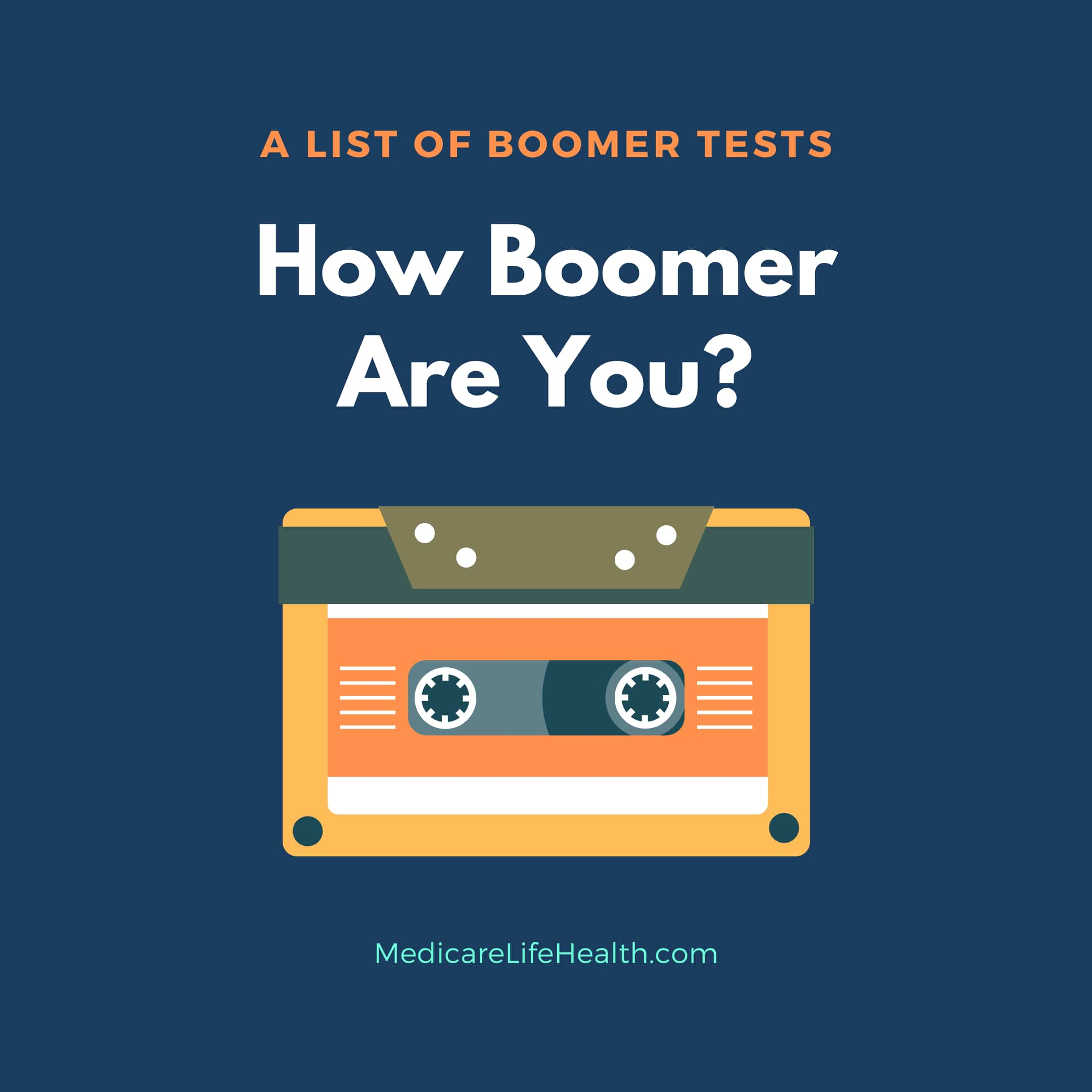 A boomer test list to find our how boomer you are