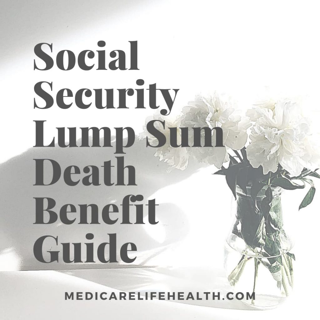 Social security lump sum death benefit guide